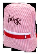 Mint (sweet little things) Seersucker Small Backpack