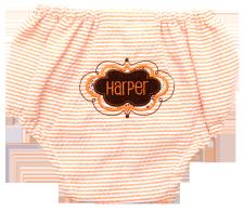 Orange Seersucker Bloomers by Mint (sweet little things)