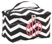 Black Chevron Makeup Bag