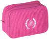 Hot Pink Waffle Weave Spa Bag